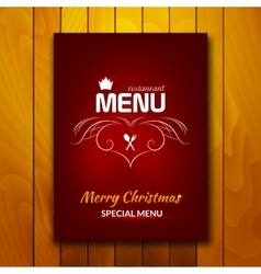 Christmas holiday restaurant menu vector image