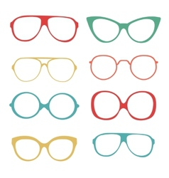 Colorful set of fashionable glasses vector image