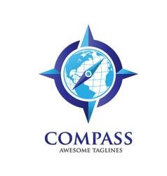 compass and globelogo vector image