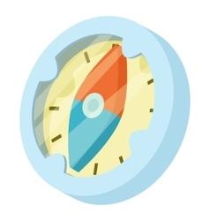Compass icon isometric style vector