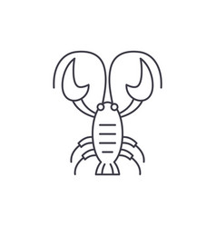 crayfish line icon concept crayfish linear vector image