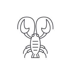 crayfish line icon concept crayfish linear vector image