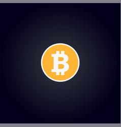 Cripto currency logo coin bitcoin vector