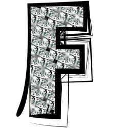 Diamond Font letter F vector image