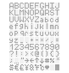 Digital terminal table led font vector