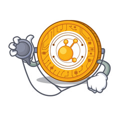 Doctor bitconnect coin character cartoon vector