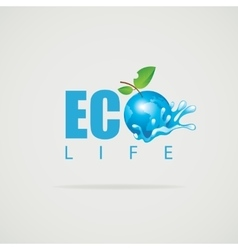 Eco Life Planet vector image