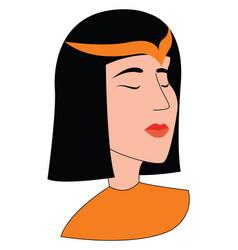 egyptian girl on white background vector image