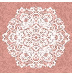 Elegant lacy doily snowflake vector