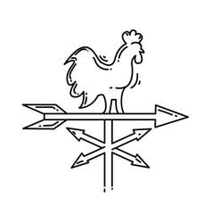 farming weather vane icon hand drawn icon set vector image