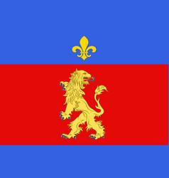 Flag of charolles in saone et loire of burgundy vector