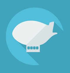 Flat modern design with shadow airship vector