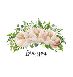 flower bouquet design element peach pink rose vector image