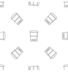 Food processor machine pattern seamless vector