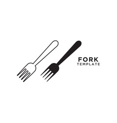 fork graphic design template vector image