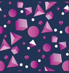Fun and cool retro style chaos seamless pattern vector