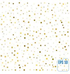 Gold glitter background polka dot vector