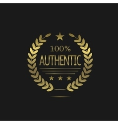 Golden Authentic label vector image