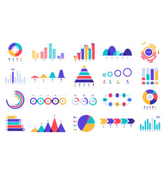 graphic charts icons finance statistic chart vector image