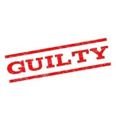 Guilty Watermark Stamp vector