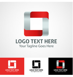 Hi-tech trendy initial icon logo o vector