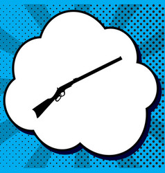 Hunting rifle icon silhouette gun vector