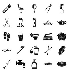 Hygiene icons set simple style vector