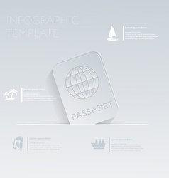 International passport theme holidays template vector
