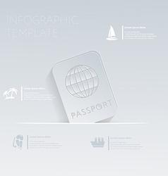 International passport Theme holidays Template vector
