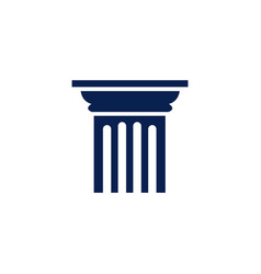 isolated pillar icon logo vector image