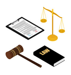 judges gavel justice scales law books and vector image