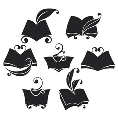 library collection vector image vector image