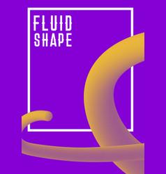 Liquid fluid shape cover design modern vector