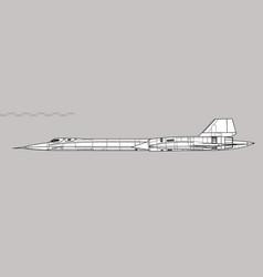 Lockheed sr-71 blackbird vector