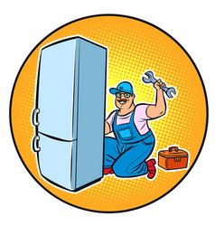 Master refrigerator repair vector