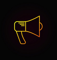 Megaphone yellow icon vector