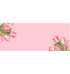 mother day greeting card floral spring vector image