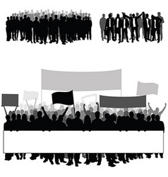 People silhouette in black color with transparent vector