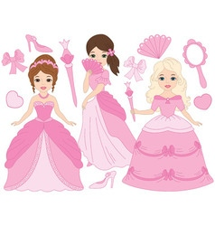 Princesses Set vector