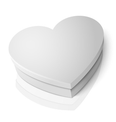 realistic blank white heart shape box vector image