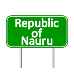 Republic of Nauru road sign vector image
