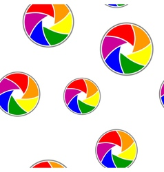 Seamless background with Rainbow flag vector image