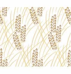 Seamless background with wheat vector