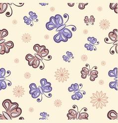 Seamless butterfly randomly pattern texture vector