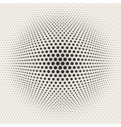 Seamless Halftone Circles Bloat Effect vector