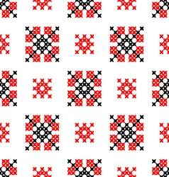 Seamless texture with red black abstract patterns vector