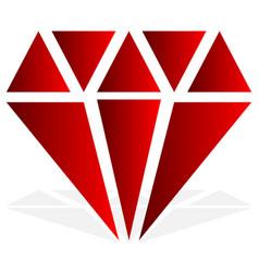 Simple diamond jewelry sign symbol precious stone vector