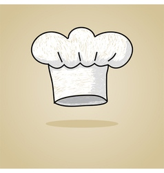 Sketch of a chef hat vector