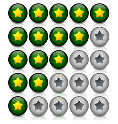 Star rating in dark green vector