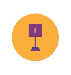 Stylish icon in color circle small shovel vector
